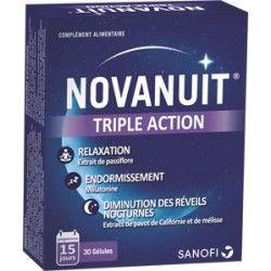 NOVANUIT Triple action Sommeil Complément alimentaire Boite de 30 gélules