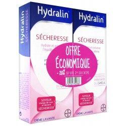 HYDRALIN SECHERESSE Crème lavante spécial sécheresse 2 Flacons de 200 ml