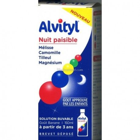 ALVITYL Nuit paisible Solution buvable goût banane Flacon de 150 ml