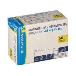 MAGNESIUM / VITAMINE B6 BIOGARAN Boite de 50 comprimés pelliculés