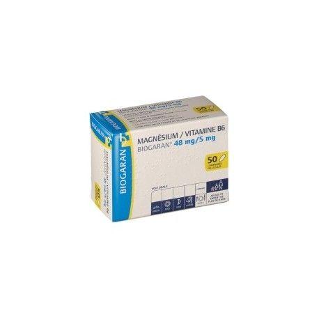 MAGNESIUM / VITAMINE B6 MYLAN Boite de 50 comprimés pelliculés