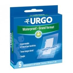 URGO 5 Pansements Optiskin waterproof grand format 10 cm X 7 cm