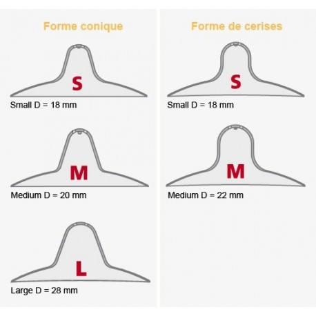 MAMIVAC Prtège mamelons Medium forme cerise