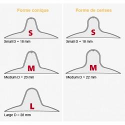MAMIVAC Protège mamelons Small Forme cerise