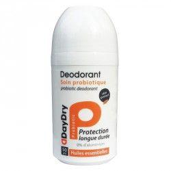 DAYDRY Déodorant soin probiotique Huiles essentielles Roll on de 50 ml