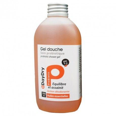 DAYDRY Gel douche Soin probiotique Huile essentielles Flacon de 250 ml