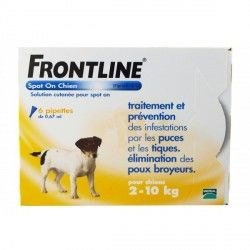 FRONTLINE Solution externe Chien 2-10kg 6 doses
