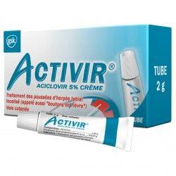 ACTIVIR 5% Crème Flacon-pompe doseur de 2g