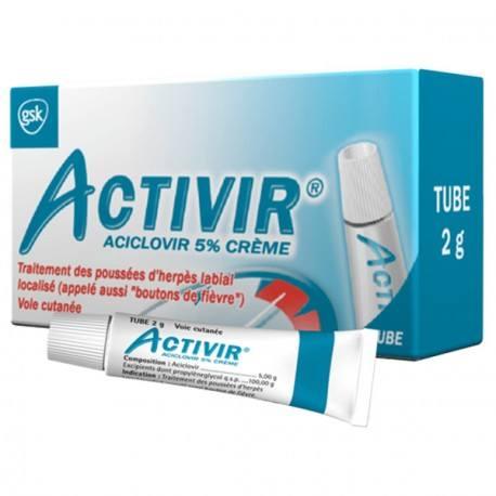 ACTIVIR 5% Cr Fl ppe dos/2g