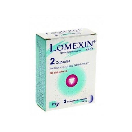 LOMEXIN 600mg Capsules vaginales Plaquette de 2