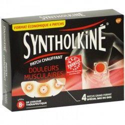 SYNTHOLKINE Patch chauffant Boite de 4 spécial bas du dos
