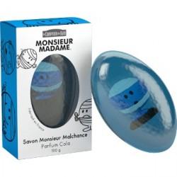 LE COMPTOIR DU BAIN Savon Monsieur Malchance parfum Cola Pain de 100 gr