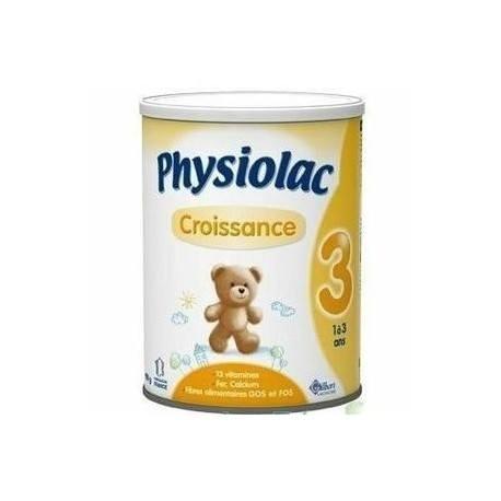 PHYSIOLAC Croissance de 1 à 3 ans 2 Boites de 900 g - 50 % sur la 2ème