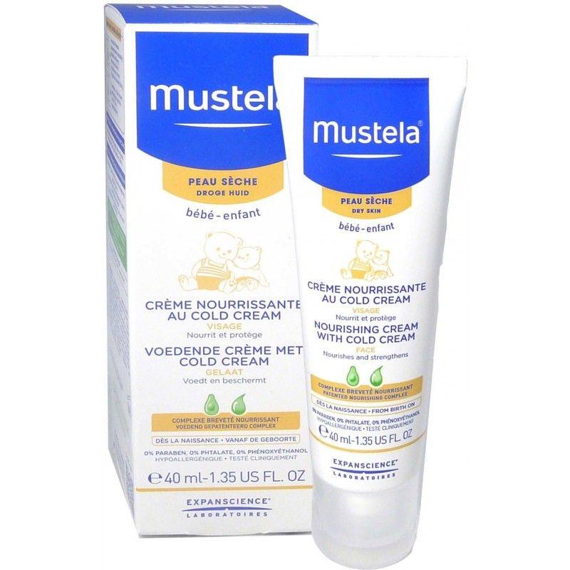 mustela bebe cold cream tube de 40 ml notrepharma. Black Bedroom Furniture Sets. Home Design Ideas