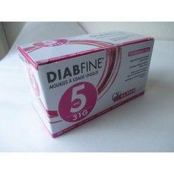 DIABFINE Aiguille à usage unique 5 mm Boite de 100