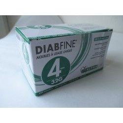 DIABFINE Aiguille à usage unique 4 mm Boite de 100