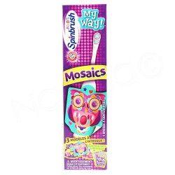 SPINBRUSH Mosaics 1 brosse à dents à piles + autocollants mosaiques