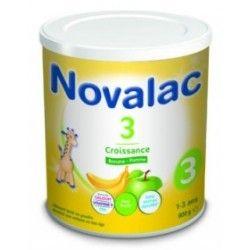 NOVALAC CROISSANCE 3 eme age Banane - pomme Boite de 800 grammes