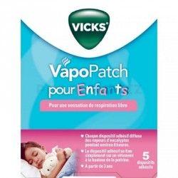 VICKS VAPOPatchs pour enfants boite de 5 dispositifs adhésifs
