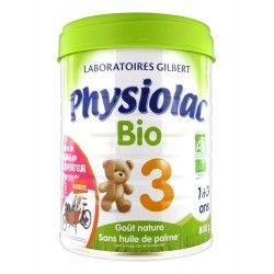 Physiolac Bio Croissance 3 eme age De 1 À 3 Ans Boite de 800 grammes