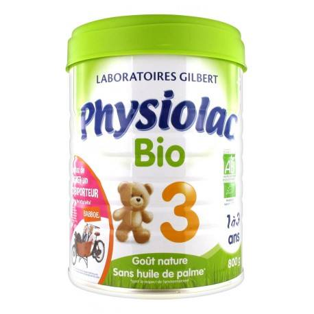 Physiolac Bio Croissance 3 De 1 À 3 Ans 900 g