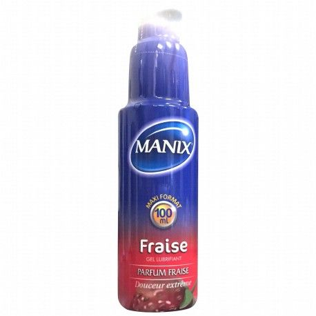 MANIX Gel lubrifiant à la Fraise pulpeuse Flacon de 100 ml