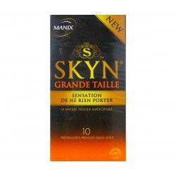 MANIX SKYN Grande taille préservatifs Plus GRAND confort Boite de 10