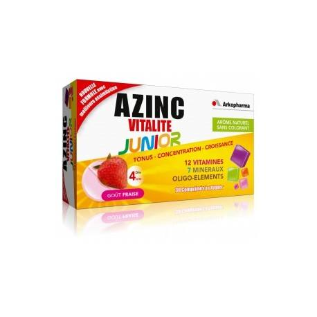 ARKOPHARMA AZINC OPTIMAL JUNIOR Cpr croq fraise Fl/30