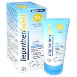 BEPANTHEN SOLEIL Crème visage 50 + Peaux sensibles Tube de 50 ml