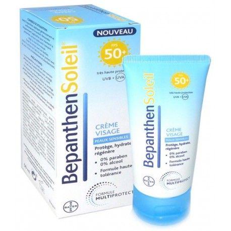 Bepanthen soleil cr me visage 50 peaux sensibles tube de 50 ml notrepharma - Bepanthen coup de soleil ...