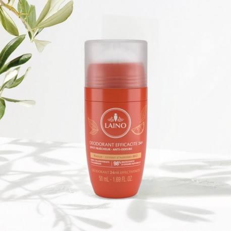 LAINO PLAISIRS PARFUME Déodorant minéral Parfum agrumes Bille de 50ml
