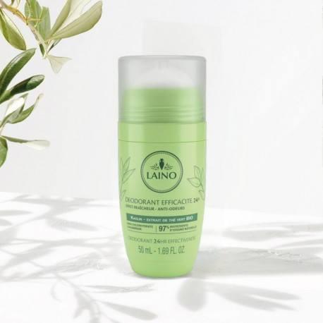 LAINO PLAISIRS PARFUME Déodorant minéral parfum Thé vert - Feuilles de menthe bille de 50ml