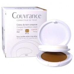 AVENE COUVRANCE Crème de teint compacte confort Miel n°4 Boitier de 9,5g