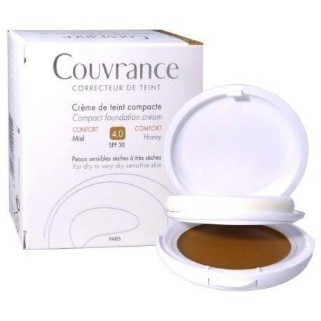 AVENE COUVRANCE Crème de teint compacte confort Miel Boitier de 9,5g