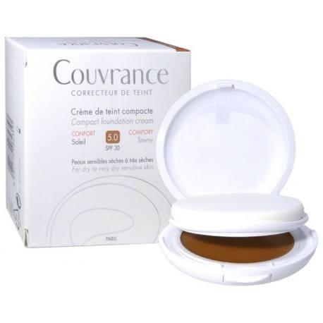 AVENE COUVRANCE Crème de teint compacte confort Soleil Boitier de 9,5g