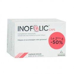 INOFOLIC Prépare et acoompagne votre grossesse 2 Boites de 30 capsules