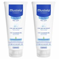 MUSTELA BB Shampoing 2en1 Cheveux et Corps 2 Tubes de 200ml