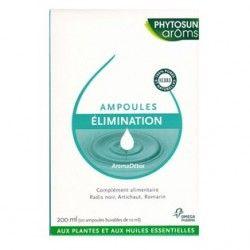 PHYTOSUNAROMS Ampoules Elimination 20% gratuit Boite de 20 ampoules