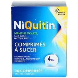 NIQUITIN SANS SUCRE 4mg Comprimés à sucer Plaquette de 96
