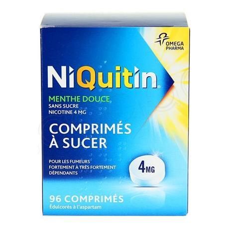 NIQUITIN SANS SUC 4mg Cpr suc Plq/96