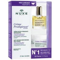 NUXE Coffret Crème Prodigieuse enrichie Tube de 40 ml + huile et creme nuit en cadeaux