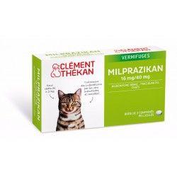 MILPRAZIKAN Vermifuges pour chat Boite de 2 comprimés
