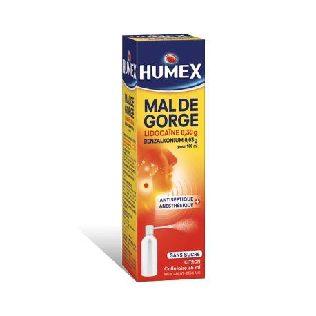 HUMEX Collutoire à la lidocaïne Flacon de 35ml