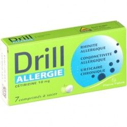 DRILL ALL CETIRIZ 10mg Cpr suc Plq/7