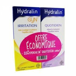 HYDRALIN offre economique Irritation + quotidien 200 ml + 200 ml
