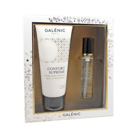 GALENIC Coffret confort suprême Crème lactée 100 ml + huile sèche 15 ml