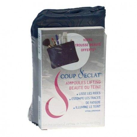 COUP D'ECLAT Ampoules lifting Beauté du teint 2 coffrets de 3 ampoules + trousse de maquillage offerte