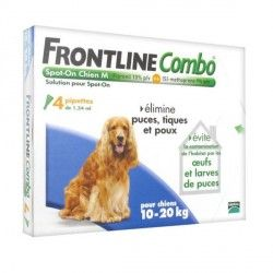 FRONTLINE COMBO Solution externe Chien 10-20kg Boite de 4 doses