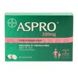 ASPRO 320mg Comprimés Boite de 60