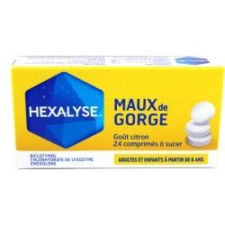 HEXALYSE Comprimés à sucer plaquette de 24